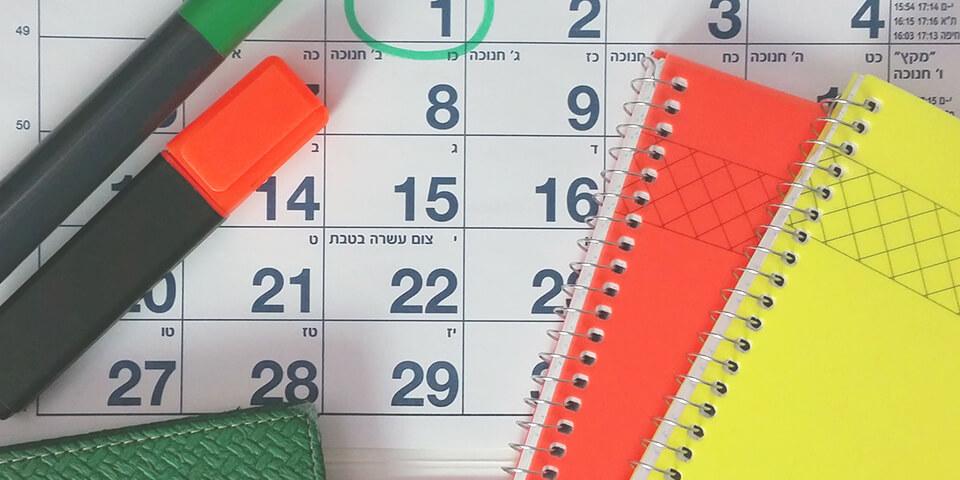 календарь, план, блокнот, маркер