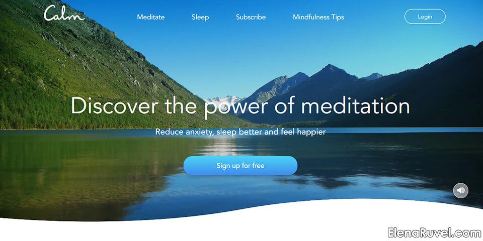 calm application, meditation