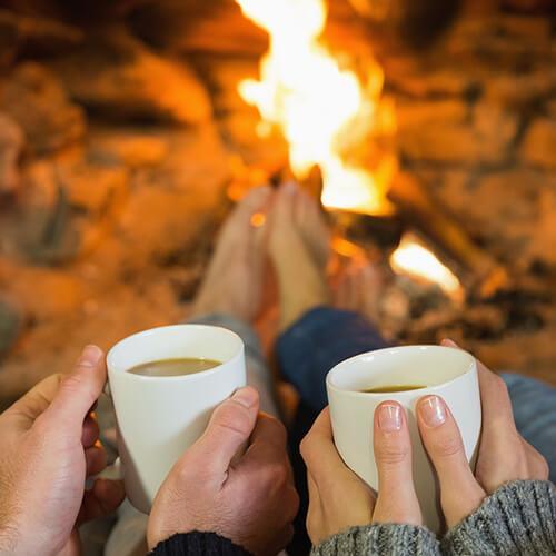 идеи для зимы, отопление, камин