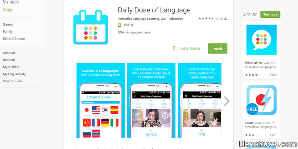 daily dose of language application