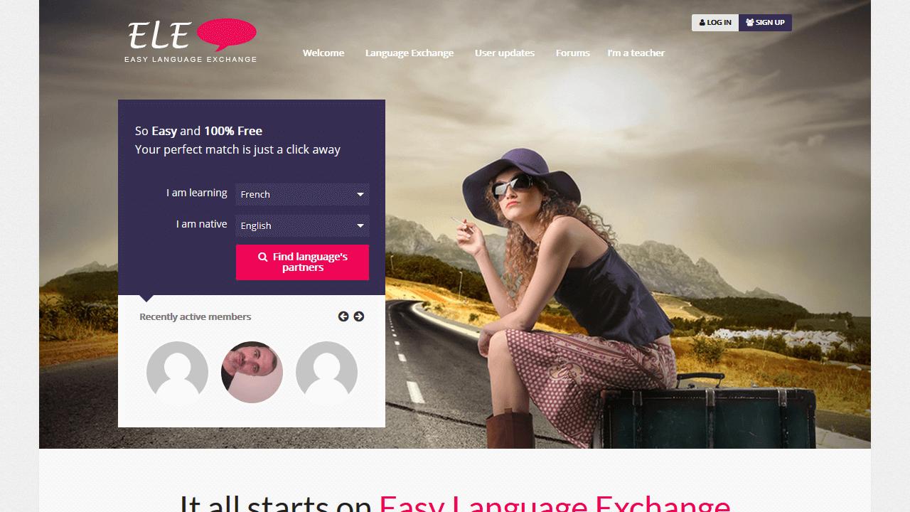easylanguageexchange.com