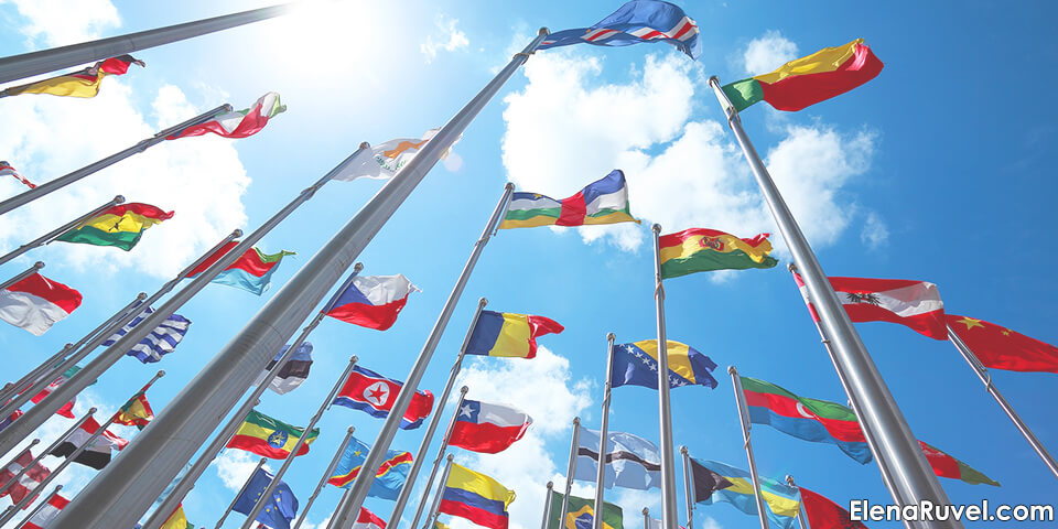 флаг, страна, международный, иностранные языки