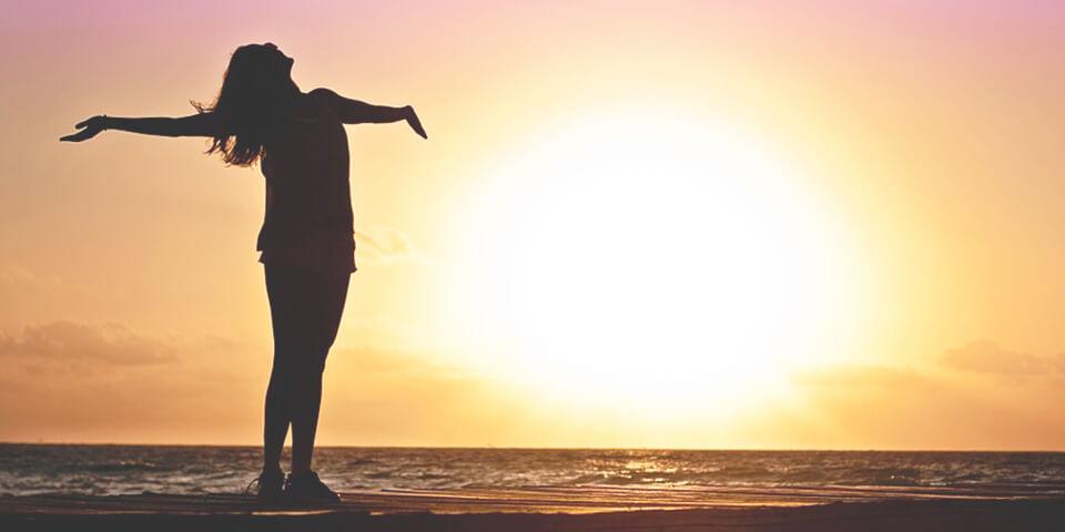 счастье, море, солнце, закат