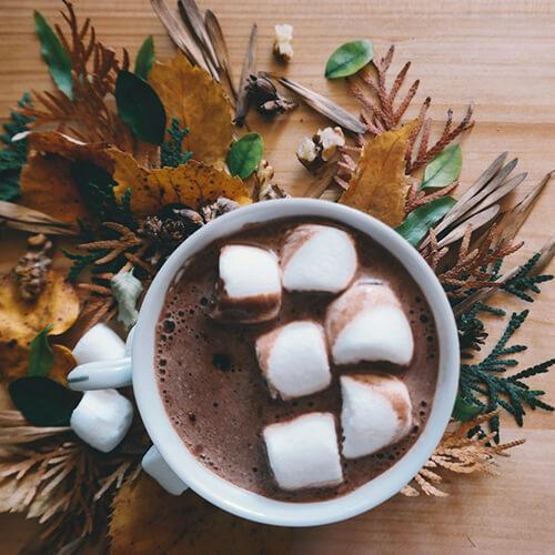 идеи для зимы, горячий шоколад