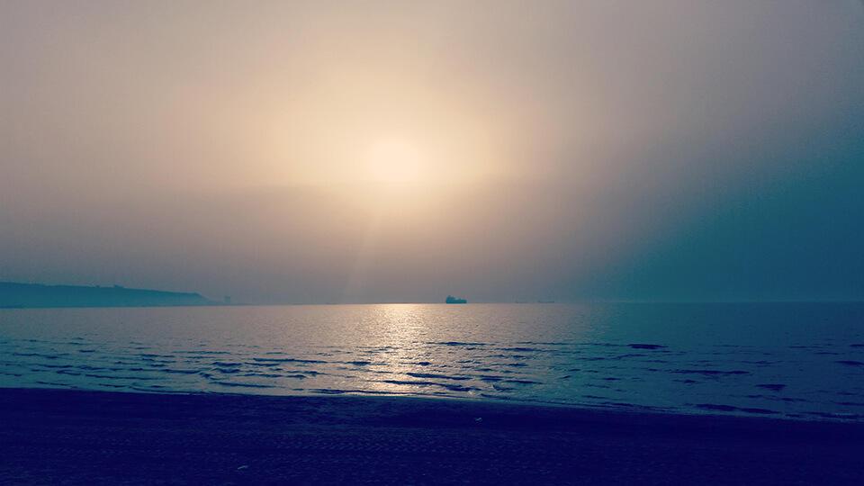 море, Израиль, Хайфа, закат, пляж