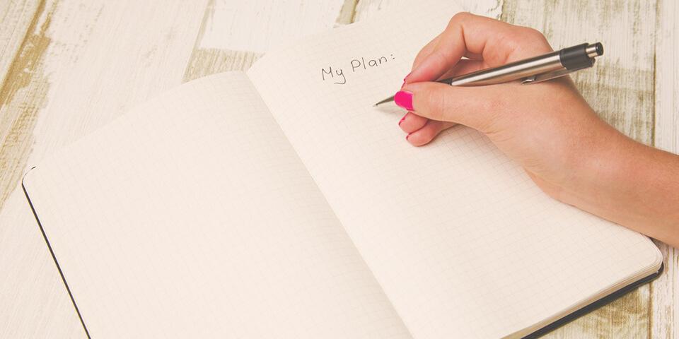 дневник, план, ручка, учеба