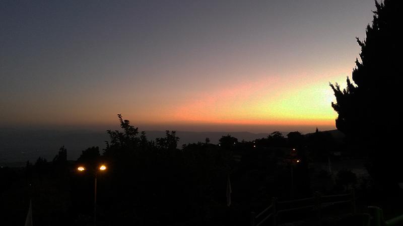 Закат на севере Израиля
