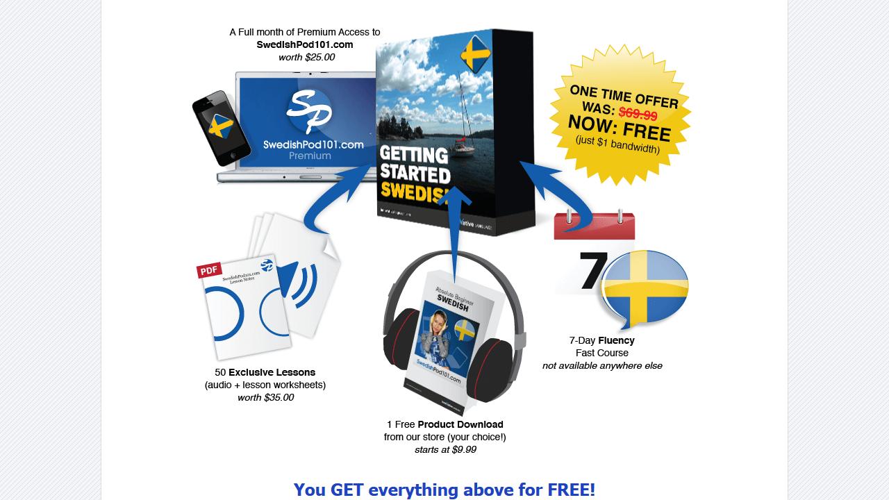 Специальное предложение на сайте swedishpod101.com