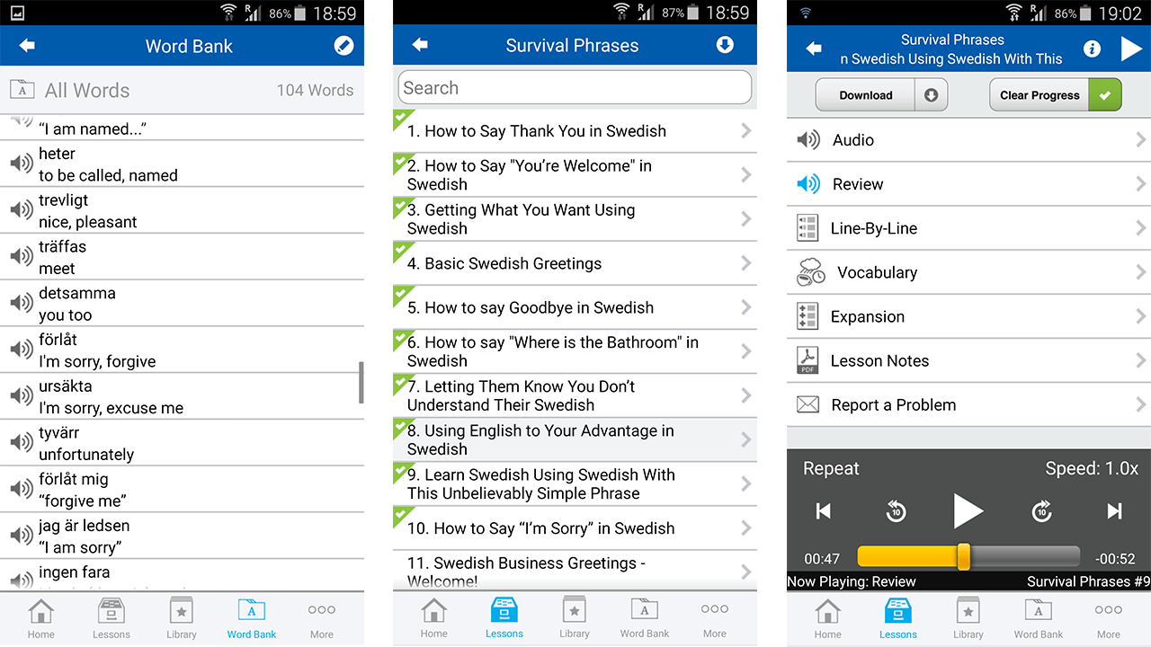 swedishpod mobile version