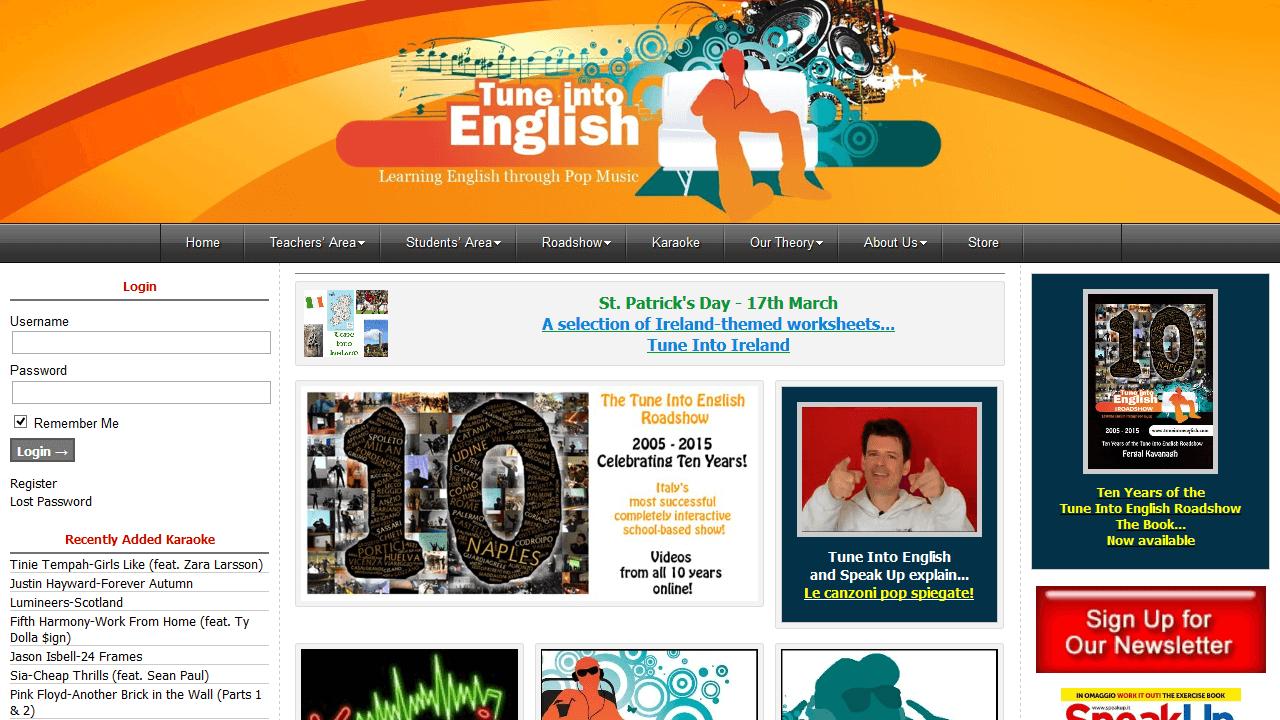 tuneintoenglish.com