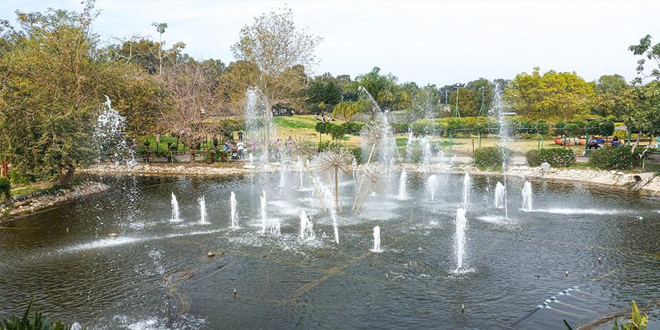 Музыкальный фонтан, парк Утопия, Израиль