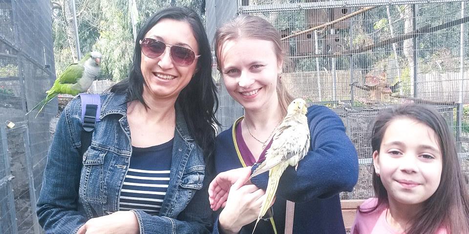 Дружелюбные попугаи, парк Утопия, Израиль
